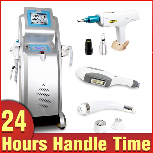 Multi Functional 3in1 IPL RF Hair Removal Q-Switched ND Yag Laser Tattoo Removal Skin Tighten E-light Salon Beauty Equipment