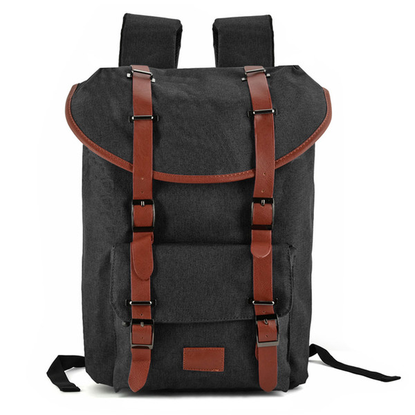 New Arrival Men Backpacks Canvas School Bag Computer Bag Multi-functional Shoulder Bag Casual Travel Outdoor Student High Capacity VK5041-1