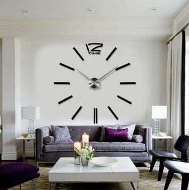 Simple Art Diy Watch Bedroom Personality Mirror Wall Clock Living ...