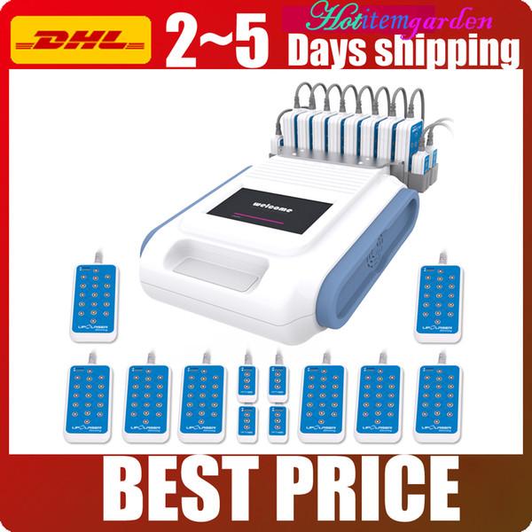 12 Pads Diode Lipo Laser Power 650nm 980nm Lipolyse Abnehmen Fettabbau Gewichtsverlust Spa Salon Verwendung Schönheit Maschine