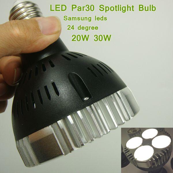 Bombilla para reflector LED de alta potencia E27 24 grados 20W 30W para lámpara, iluminación de acento, iluminación comercial