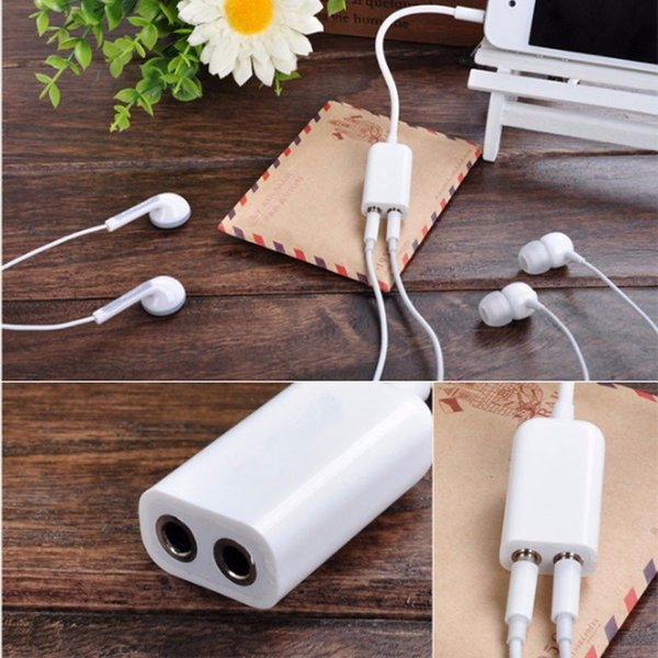2017 Hot sale 3.5mm 1 Male Jack To 2 Female Audio Cable Mic Headphone Adapter Headset Earphone Splitter Line for PC Computer Cellphone