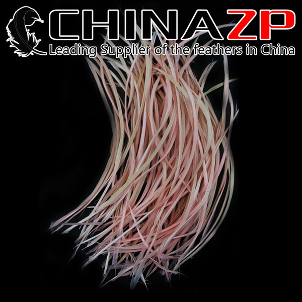 Gold Supplier CHINAZP Crafts Factory 15~20cm(6~8inch) Best Quality Dyed Pink Curled Goose Biots Loose Feathers