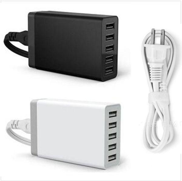 Stazione di ricarica rapida Dock 5 Porta USB Caricatore da tavolo USB 3.0 5V / 8A per iPhone 7 iPad Air Smartphone Tablet