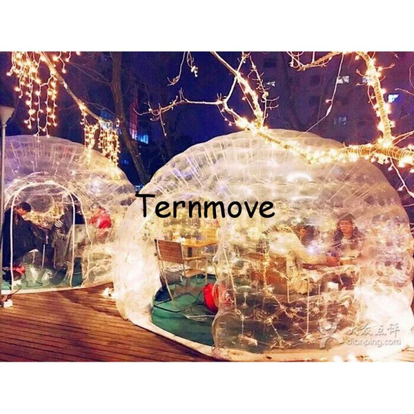Inflatable Bubble Tent,Inflatable clear Lawn Dome Tent,Transparent Tent with floor,Inflatable Structure Air-Roof Luna Tent