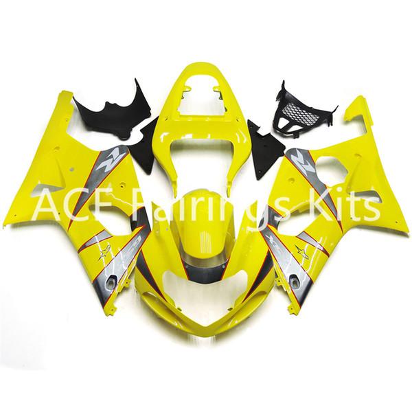 3 cadeaux gratuits Nouvelle Suzuki GSXR1000 K1 K2 00 01 02 GSXR1000 K1 K2 2000 2001 2002 Carénage de moto en plastique ABS de style jaune v82