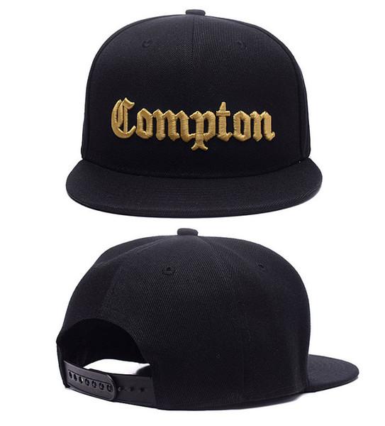 2017 SSUR Snapback Cap Compton Nero Bianco Cappelli hip pop mens donna classico Cappelli a snapback regolabili a buon mercato di moda, cappello di strada di alta qualità