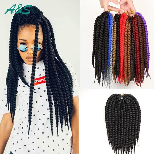 1b Crochet Faux Locs Kinky Twist Hair Jumbo Hair Synthetic Japanese