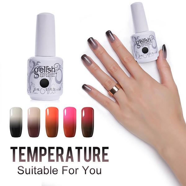 Chameleon Gel Esmalte De Uñas Gelish Soak Off Nail Art Es Cambio De Color De Gel De Temperatura En Cualquier Color Por Beauzen 406 Esdhgatecom