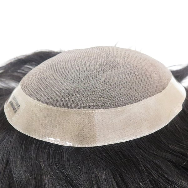 Best Selling Fine Mono With Skin Around Human hair Toupee European hair Rplacement Men Toupee Free shipping