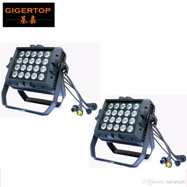 2pcs / Lot 20pcs * 15W RGBWA + UV 6IN1 Luz de arandela de pared Led, UV + RGBWA Luz de pared de pared a prueba de agua a prueba de agua Led Etapa de luz LED Peso pesado