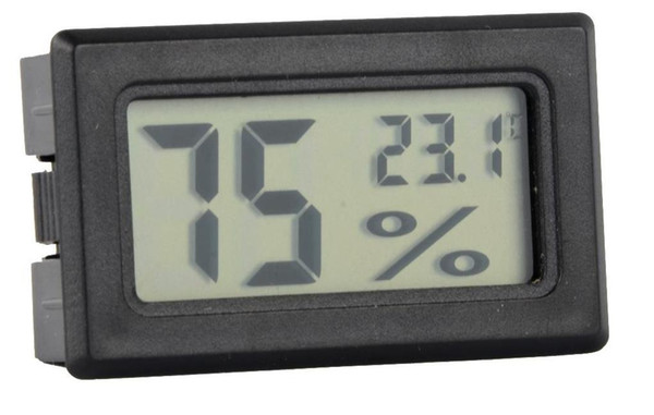 best selling Mini Black White Digital LCD Embedded Thermometer Hygrometer Temperature Humidity Meter indoor Thermometer Free shipping