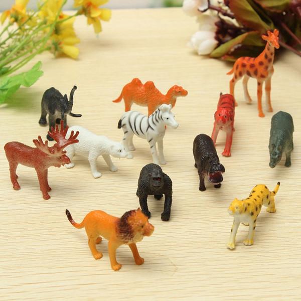 Zoo di plastica Figura Animale Leopardo Animale Giocattolo BELLA Regalo Giocattoli per bambini