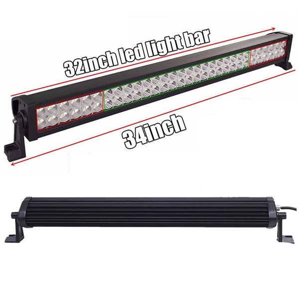 """32"""" 180W Work Light Bar Fog Roof Driving Lamp for Off-road Vehicles SUV ATV 4x4WD Spot Flood Combo Beam Jeep Boat Truck Tractor 34 inch"""