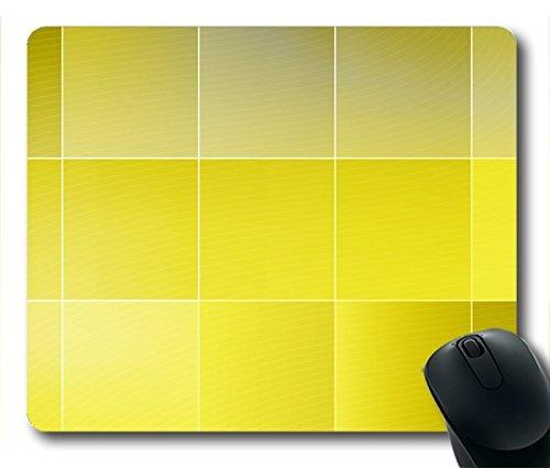 Mousepad Yellow Squares Rubber Neoprene Rubber Non-slip Personality Rectangle Desktop Mousepad Desings Gaming Mouse Pad Laptop Mousepad