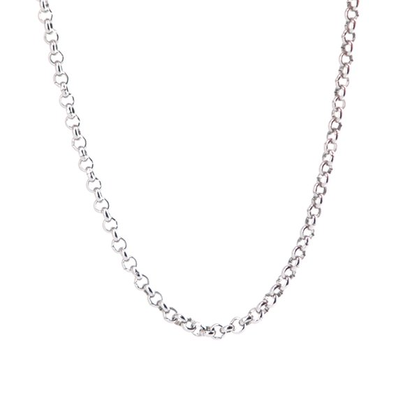 """50pcs rolo Chain 20"""" 24'' 30"""" 316L stainless steel 2.5mm width necklace chain for women men pendant"""