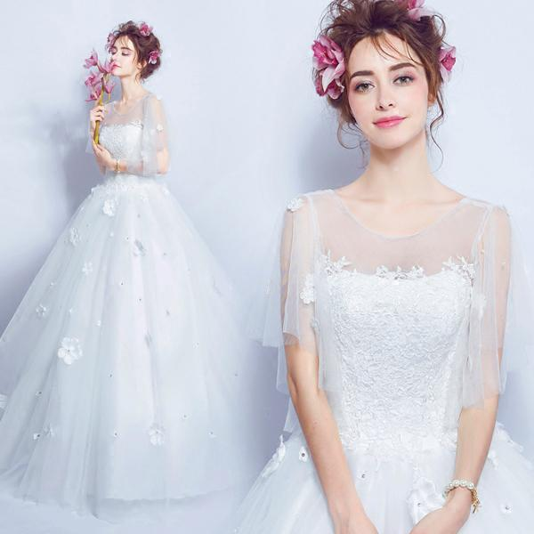 Discount Vintage Celtic Wedding Dresses White And Pale Gray Colorful ...