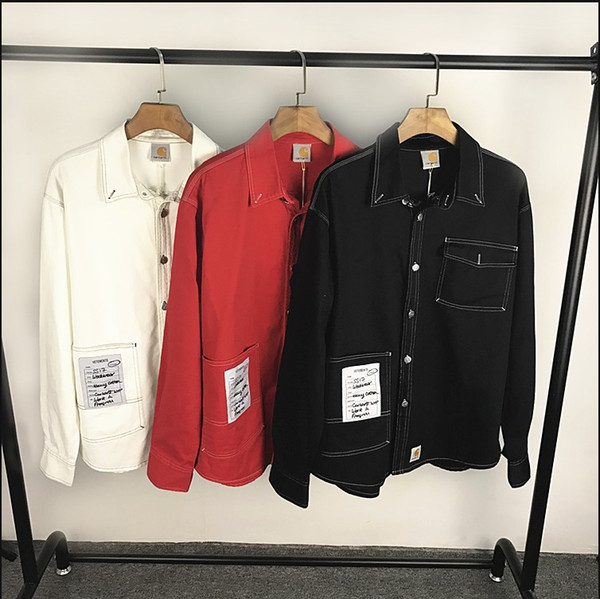 excellent quality offer discounts best shoes 2019 VETEMENTS X CARHARTT WORKWEAR SHIRT Cooperation Denim Shirt 2017 New  Red Workwear Shirt Oversized Cowboy Shirts For Men And Women Blouse From ...
