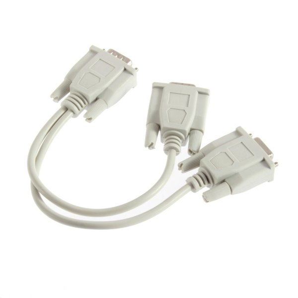 VGA 1 PC to 2 Monitor Dual Video Way VGA SVGA Graphic LCD TFT Y Splitter Cable Lead