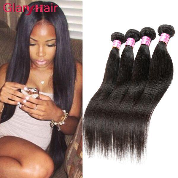 Малайзийский индиец перуанский бразильский девственница пучок волос 5 пучков дешевый прямые человеческие волосы Remy наращивание волос необработанные утки волос