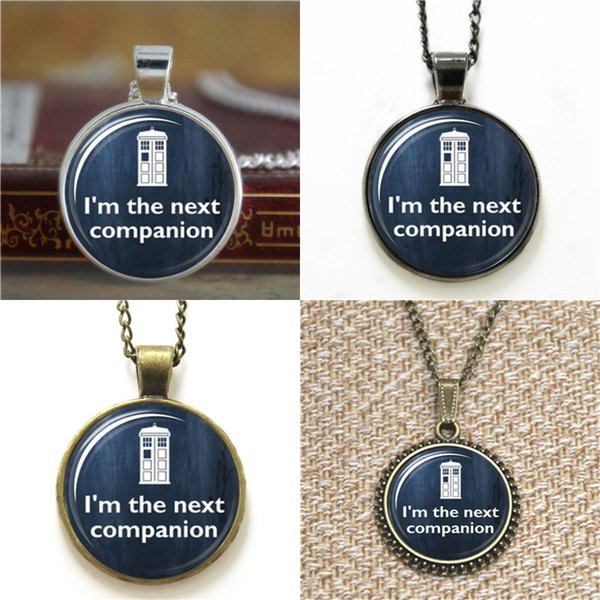 10pcs Doctor Who I'm the next companion Pendant Jewelry Glass Photo Cabochon Necklace keyring bookmark cufflink earring bracelet