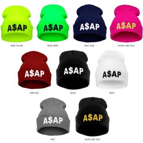 Designer ASAP Letters Crown Stickerei Mützen Hüte Hip Hop Wort Winter Hut für Erwachsene Mens Womens Kopf Ohr Wärmer Acryl Gestrickte Schneekappe