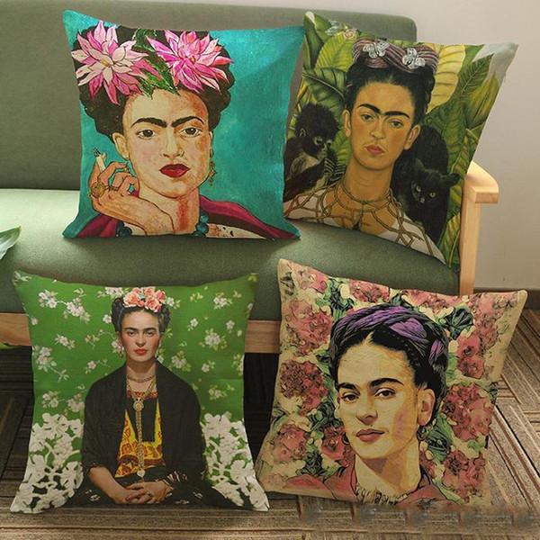 Famoso new Frida Kahlo Self Portrait Cushion Covers Colour Paintings  DL37