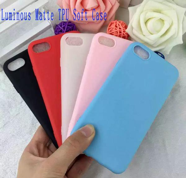 Luminous Matte Soft TPU Case For Iphone 7 7plus I7 6 6S Plus Huawei P9 Frosted Glow In Dark Silicon GEL Rubber Phone Skin Cover Luxury 20pcs