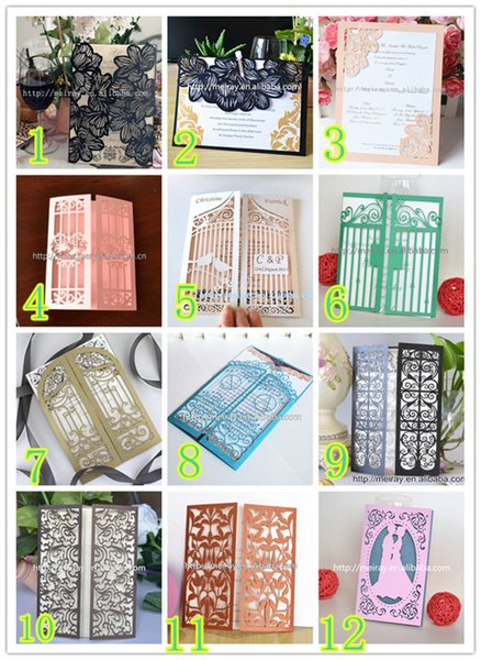 Wholesale Laser Cut Elegant Sample Invitation Card Wedding Invitations Cards With Greet Cards Greeting Birthday Card From Sophine12 17 75