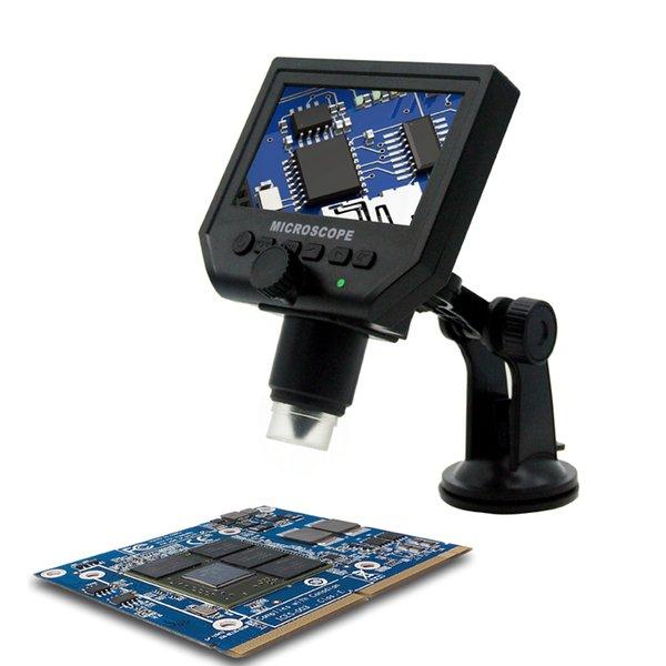 600X USB LCD Elektronik Mikroskop Dijital Video Mikroskop Kamera LED Işıkları Ile Büyütülmesi 4.3 Inç HD OLED Endoskop