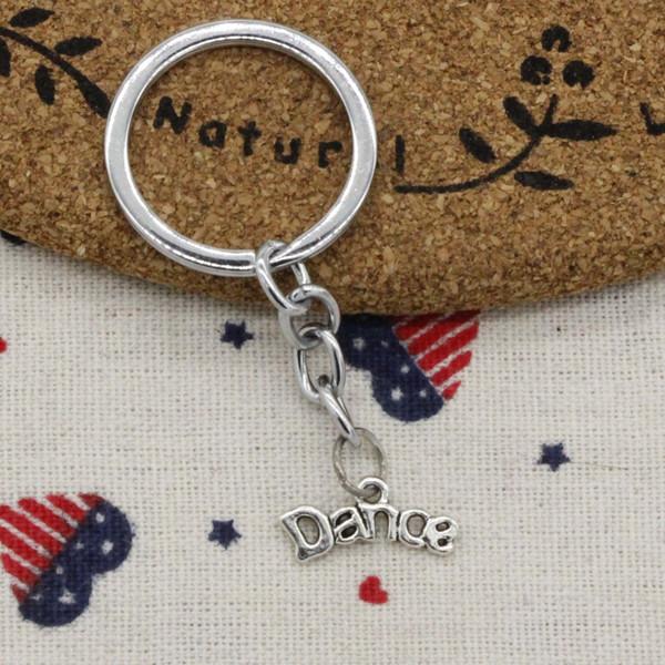 Bijoux pour hommes porte-clés, accessoires de porte-clés en métal porte-clés en métal de diamètre 30mm de diamètre, anneau de danse 20 * 9mm