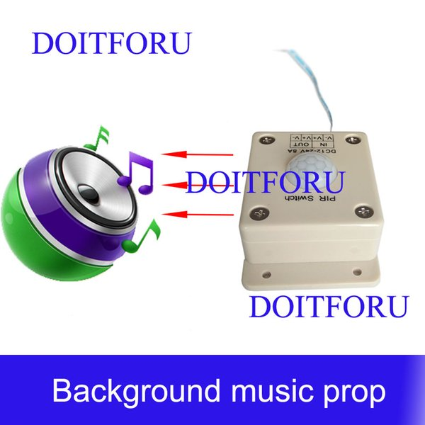 Audio sound player prop Takagism game real llive room escape play sound when detect human play audio music to create atmosphere