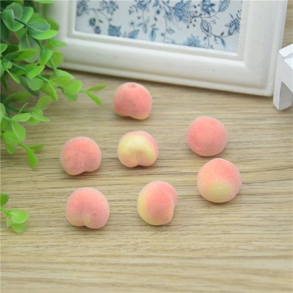 Wholesale- 30pcs Cheap Mini Peach Foam Artificial Fake Fruit Vegetable For Home Wedding Decoration Cognitive Toy Dining Table Decoration