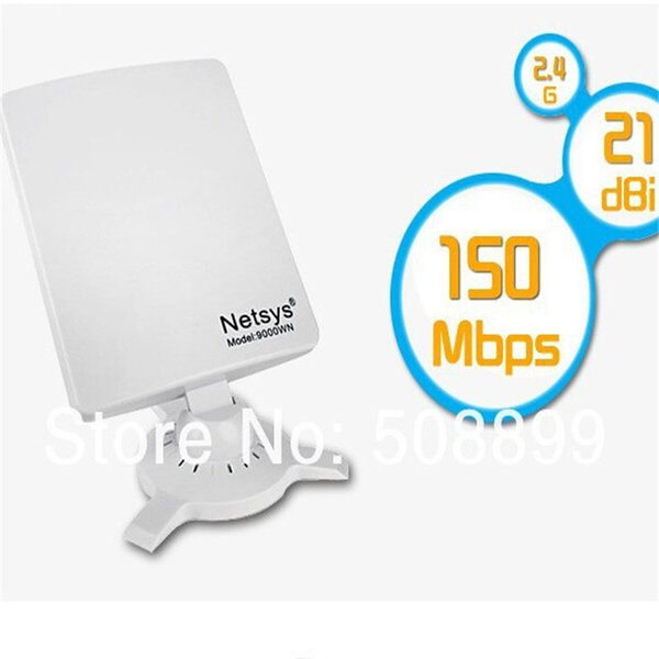 Vente en gros- Netsys 9000wn Clipper B / G / N USB 98DBI WiFi Récepteur Carte Réseau Sans Fil Adaptateur wi-fi Récepteur Haute Puissance pour PC Ordinateur Nouveau