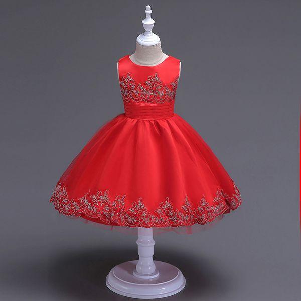 Roupas de moda de alta qualidade do bebê meninas vestido de noiva vestido de noiva da princesa vestidos da menina Vestidos de rendas crianças vestido de noite trajes quentes