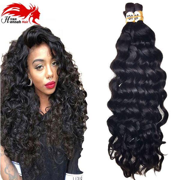 best selling Human Hair For Micro Braids Bulk Hair Deep Curly Wave Human Braiding Hair Bulk No Weft Bulks