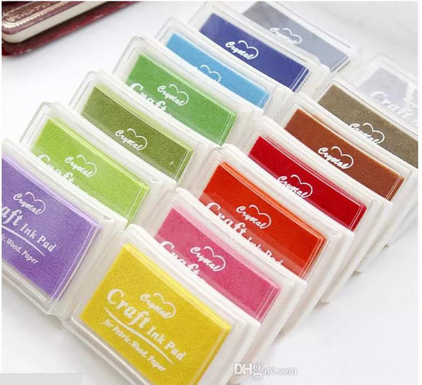 best selling DHL Free Shipping 500pcs Multi Color 15 colors DIY Work Oil Gradient Stamp Set Big Craft Ink Pad Inkpad Craft Paper