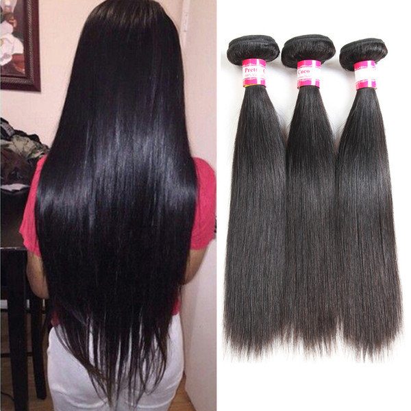 8A Straight Chinese Human Hair Weft 3pcs Best Chinese Hair Weft Bundles Malaysian Silky Straight Human Hair Extensions