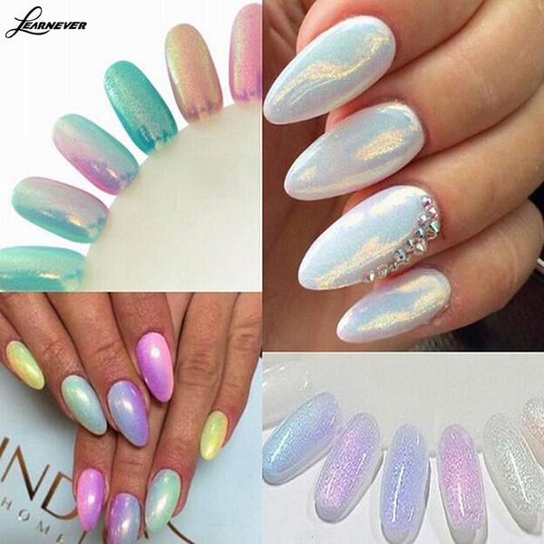 Colori di tendenza 2016 Glitter polvere effetto polvere unghie Sirena Nail Art glitter tip decor spedizione gratuita