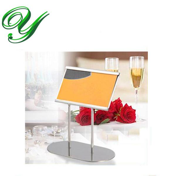 Großhandel Platz Kartenhalter Tischnummer Halter Silber Tisch Kartenständer Tisch Dekoration Edelstahl 12cm Visitenkartenhalter Hochzeit Von Liyingl