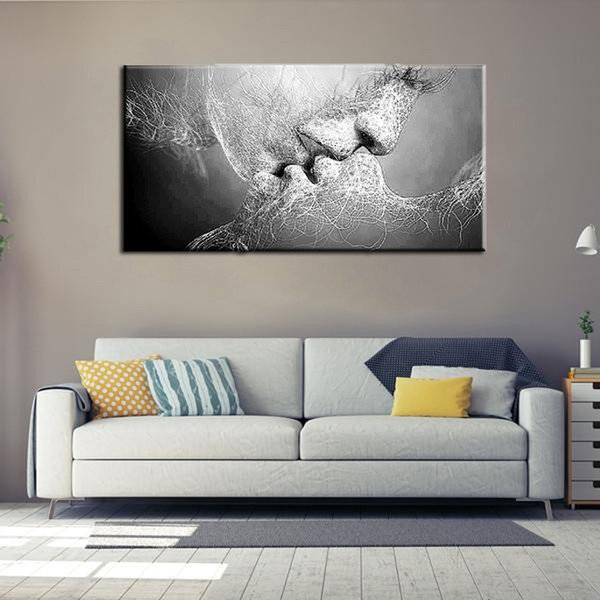 80*50Cm Matte Canvas Wall Art Spray Paintings Unframed Abstract ...
