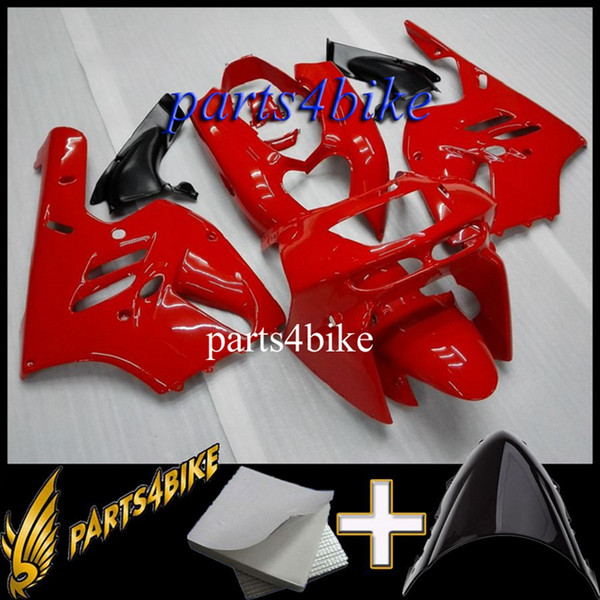 Aftermarket Plastic Fairing for Kawasaki ZX9R 94 97 ZX-9R 1994-1997 94 95 96 97 red black Motorcycle Body Kit