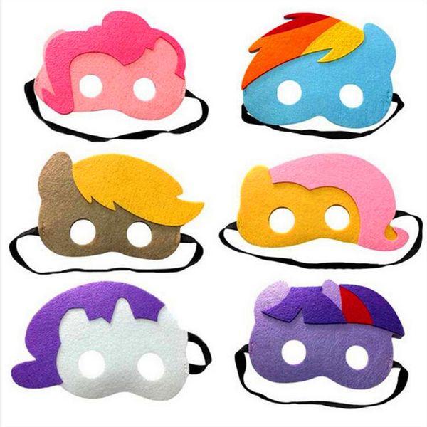 Children Halloween Cosplay Masks 103 Designs 2 Layer Cartoon Felt Mask Costume Party Masquerade Eye Mask Students Christmas Gift Mask
