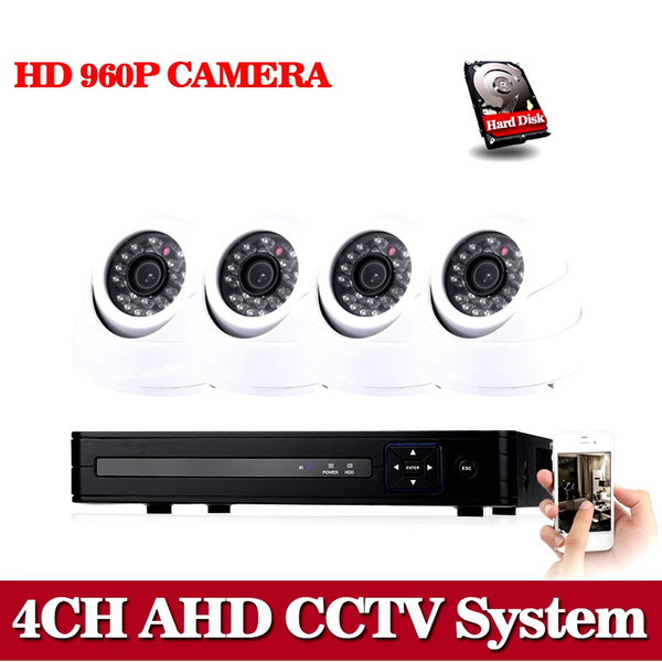 NINI Home 4CH CCTV Kit HD CCTV 960P 1.3mp Day Night Telecamera IR AHD 960P DVR 4CH Sistema di videosorveglianza di sicurezza 1 TB HDD