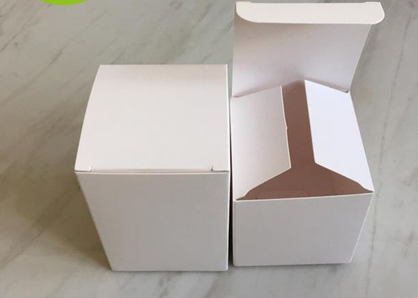 DHL 150Pcs/Lot 8*8*10cm DIY White Cardboard Paper Box Gift Packaging Box for Jewelry Ornaments Perfume Cosmetic Bottle Weddy Candy Tea