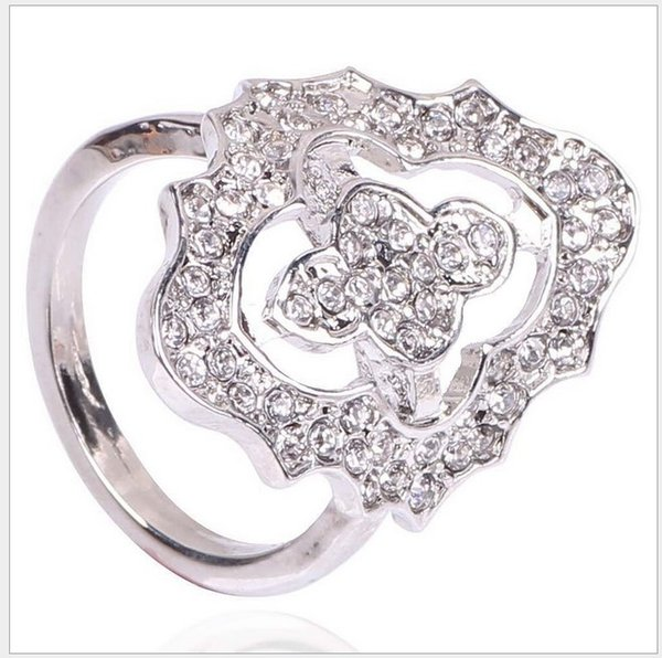 2017 S925 Sterling Silver Wedding Rings For Women Pandora Style Rings King Ring CZ Crystal Wedding Engagement Ring For Lady Fashion Jewelry