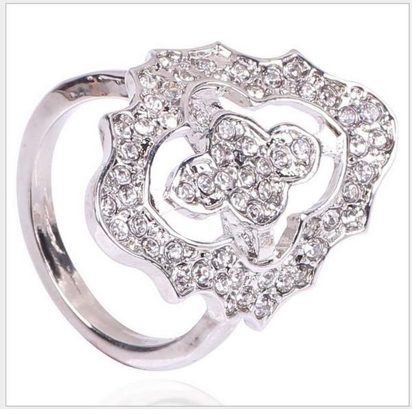 2017 S925 стерлингового серебра обручальные кольца для женщин Pandora стиль кольца King Ring CZ Кристалл обручальное кольцо для Леди ювелирные изделия