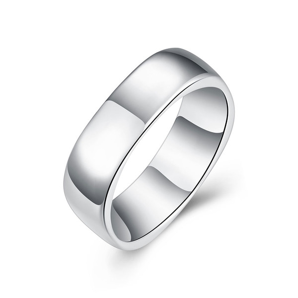 Free shipping Wholesale 925 Sterling Silver Plated Fashion no-word Square rings Jewelrys LKNSPCR004