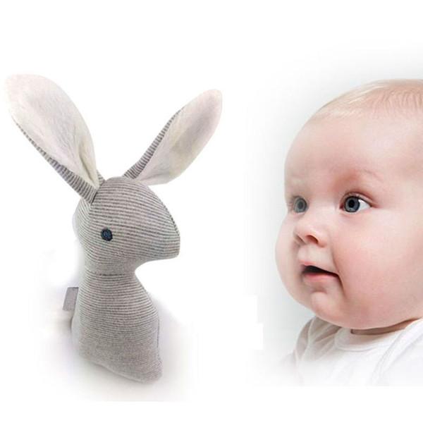 Toptan-2017 Yeni Çıngırak Bebek Oyuncakları Çocuk Bebek Bb Için ses Oyuncaklar Beşik Kawaii Tavşan Bebek Oyuncak Için Işitme Kavrama Gücü Eğitim Araçları