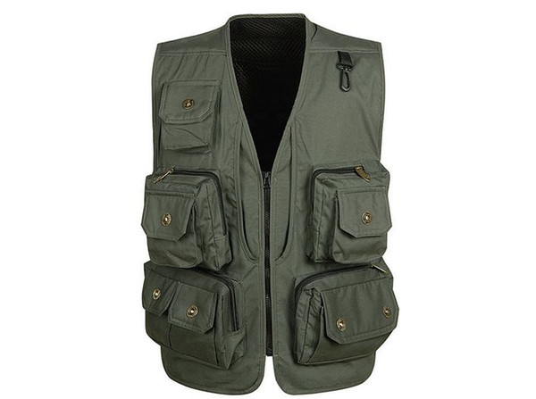 Wholesale- Mens Multi pocket Camouflage Tactical photography vests Men casual outerwear vest Summer director mesh Waistcoat